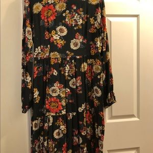 Zara Dresses - Zara Woman Maxi Floral Dress with Bow